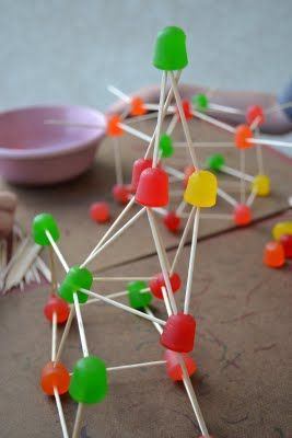 Toothpick and Gumdrop Construction: Cost: $1 for the box of toothpicks and $1 for each boy a giant box of gumdrops SOO FUN!!!  Definitely will do this again.  Great for Cub Scouts - could use for constellations or for science molecules.  Fun for FHE, too!  Fun but my kids may eat all the gumdrops!