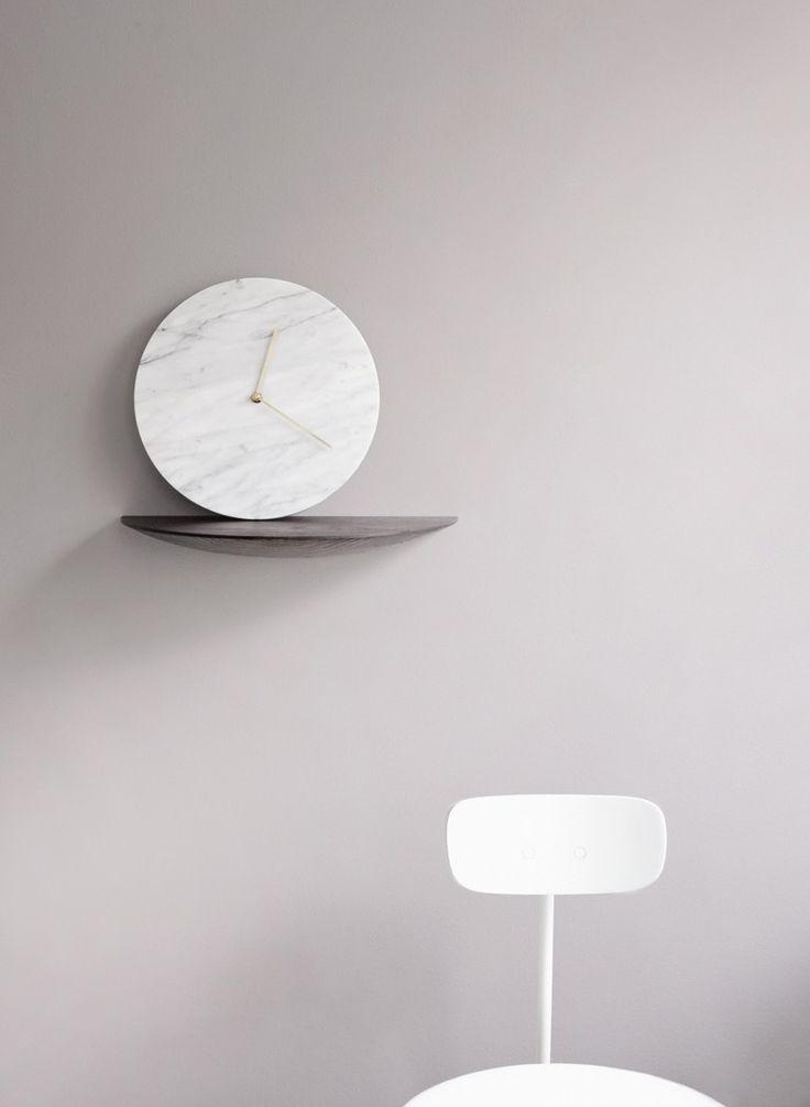 Wall-mounted marble clock MARBLE WALL CLOCK - MENU
