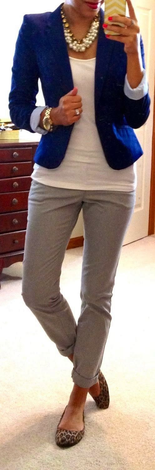 Very work appropriate for fall. Love the flats and ankle pants. Not interested in the jewelry.