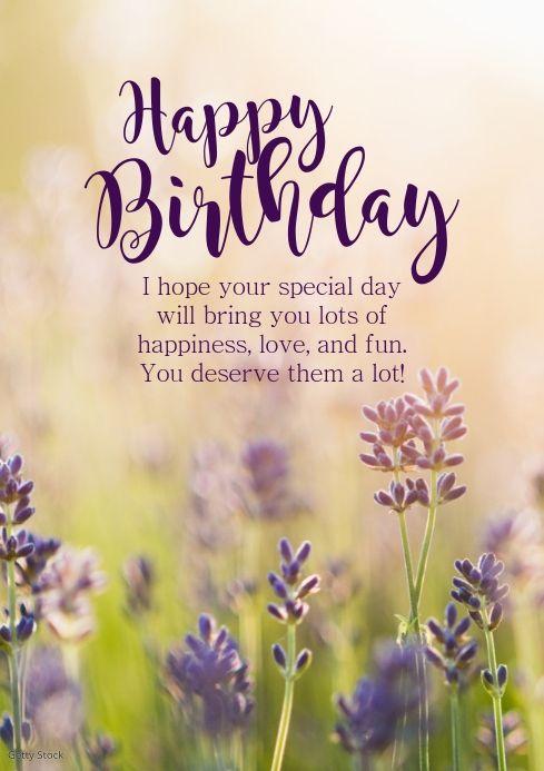 Happy Birthday Greeting Card Flowets Sun Wish Happy Birthday Greetings Friends Happy Birthday Wishes Photos Birthday Wishes Greetings