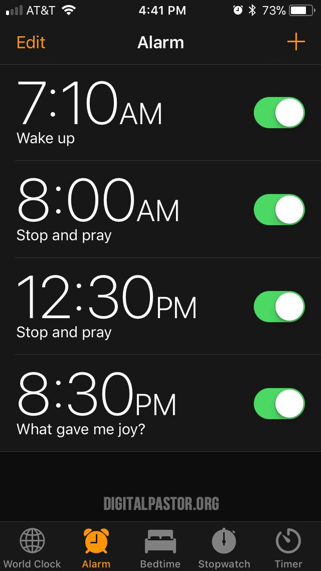 Alarming Faith Alarm