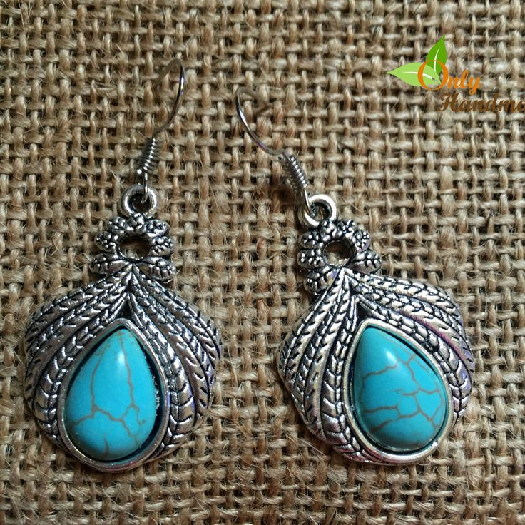 Vintage Turquoise Water Drop Dangle