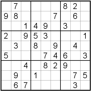 Daily Sudoku in Large Print: Easy Sudoku #142