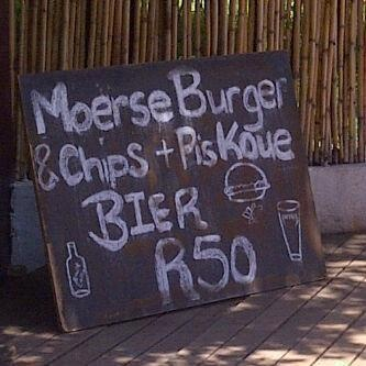 Only South Africans could truely appreciate this sign. V.