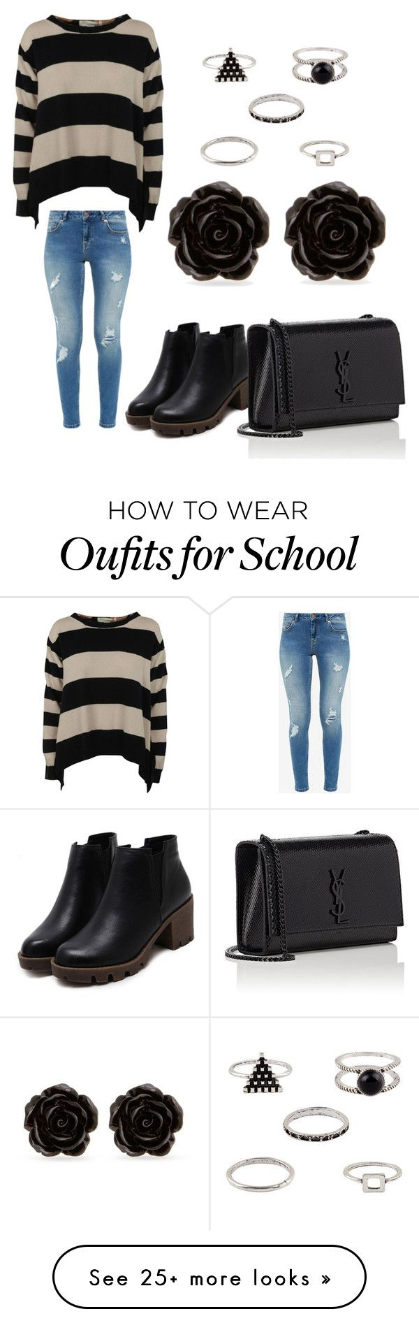"""School"" by cierrah-bridges on Polyvore featuring STELLA McCARTNEY, Ted Baker, Yves Saint Laurent and Erica Lyons"