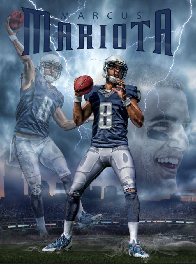 f09d019a99bab Tennessee Titans Marcus Mariota Rising Star 24x18 Football Poster