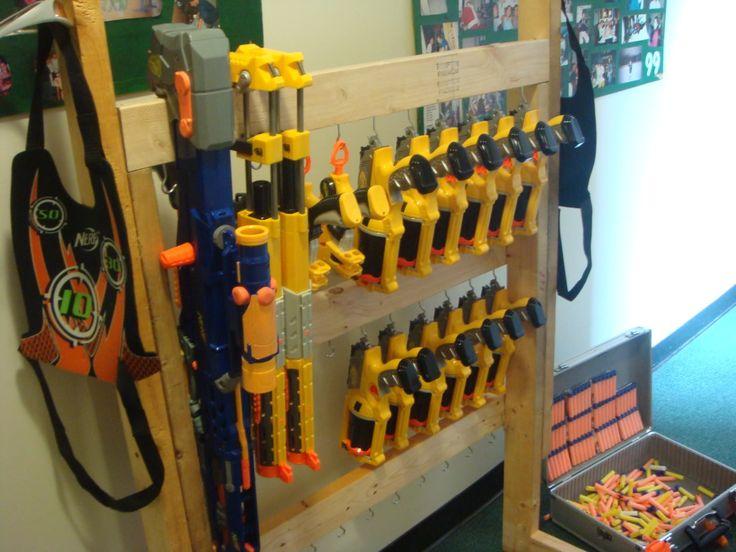 15 best Nerf gun rack ideas images on Pinterest | Gun racks, Nerf ...