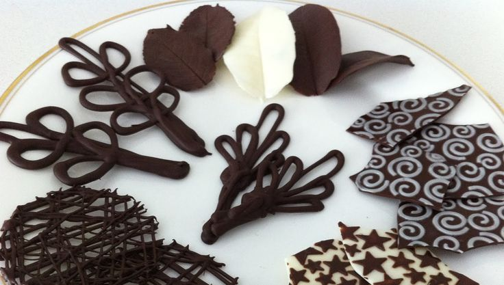 how to make chocolate garnishes decorations tutorial PART 2 how to cook ...