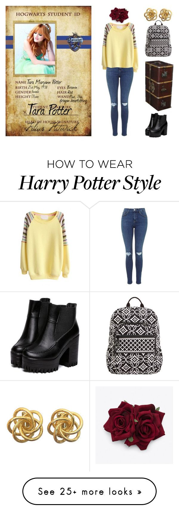 """Harry Potter OC - Tara Potter NEW VERSION"" by amalie-adamovska on Polyvore featuring Sherri Hill and Vera Bradley"