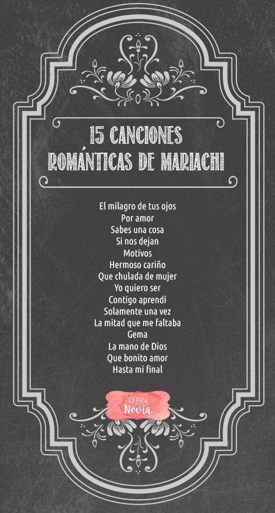 15 Canciones románticas de mariachi para la boda