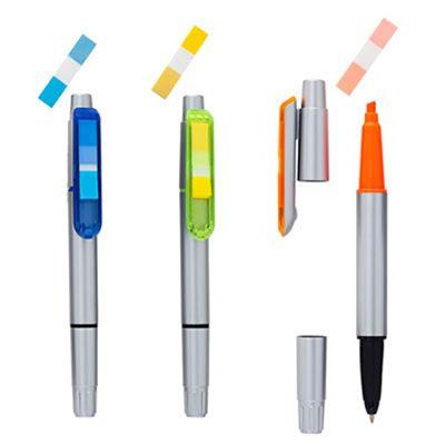 REF:SD-STICKY PEN 3 EN 1 Bolígrafo y Resaltador Líquido con 30 Stickies. Incluye Repuesto Adicional. Con Acabado Metalizado. Las Cantidades Disponibles en Inventario Pueden Variar y Están Sujetas a Control de Calidad. Tipo de Producto: IMPORTADO.  Medida de Bolígrafo: 14.2 cm.  Área de Marca en Barril: 4.5 cm ancho x 8 mm alto.  Técnica de Marca: Tampografía.  Color Disponible: Silver/Amarillo.