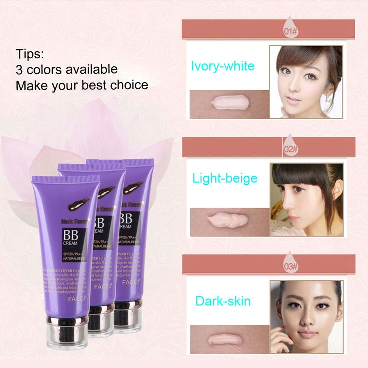 Music Flower Magic Cover #BBCream Face Care Whitening Make up Cosmetic Base 80ml SPF20/PA++ 01#