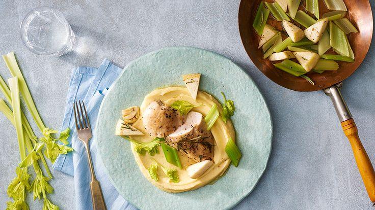 Pečené kuracie prsia so zelerovo-zemiakovým pyré