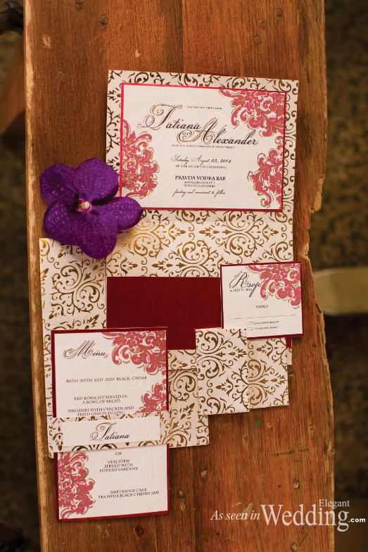 """Russian Love"" as seen in Elegant Wedding Magazine:  Planner: www.traceymevents.ca Photographer: www.avenue-photo.com"