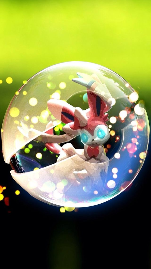 Espeon In Pokeball Tap To See More Cute Pokemons Glossy