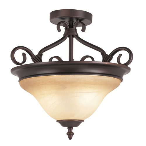 Victorian Semi Flush-Mount -Rubbed Oil Bronze