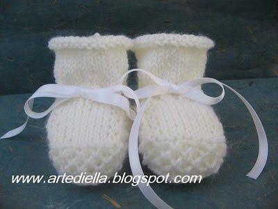 Le Fragole di Stoffa: Pattern scarpine per neonato