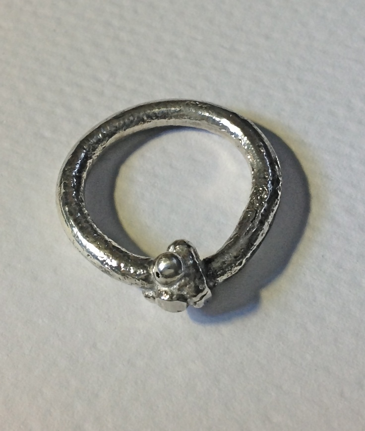 P Sign On Silver Ring