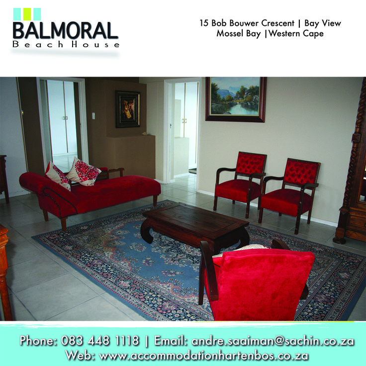Come and relax with us. Call us at: 083 448 1118 E-Mail: andre.saaiman@sachin.co.za #accommodation #Hartenbos #relax