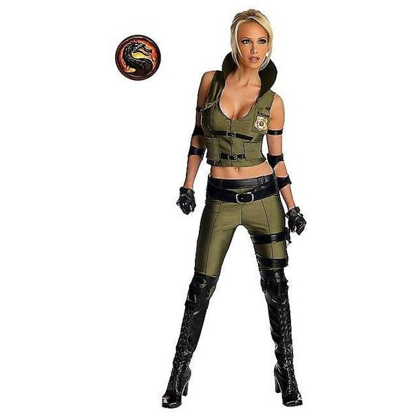 womens mortal kombat sonya blade costume 48 liked on polyvore featuring costumes - Soldier Girl Halloween Costume