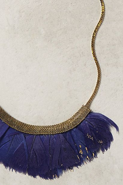 Fanned Feather Necklace // collier plumes