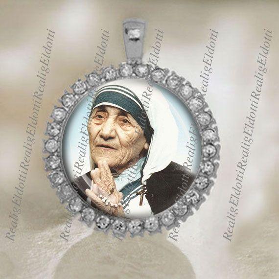 Gezegend moeder Teresa medaille katholieke zilveren door ElDotti