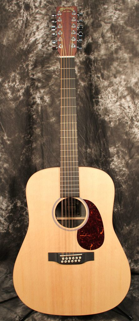 2015 Martin X Series D12X1AE 12-String Dreadnought Acoustic-Electric Guitar Natural