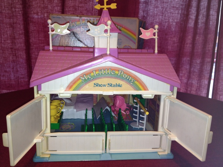 Vintage 1983 My Little Pony Show Stable.  I almost want to buy this!!  I remember playing with this set for hours!!
