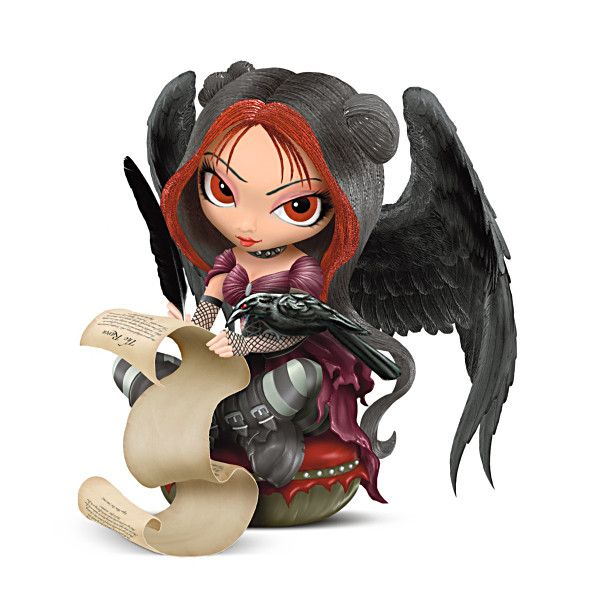 Once Upon A Midnight Dreary Figurine She looks kinda bitchy, so does that mean she's the bay fairy, wicked fairy or what ever you call  the meanest one that is the biggest troublemaker in the realm.... I like her already!!!!!