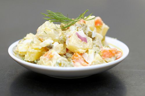 Salad Olivier (russian potato salad)