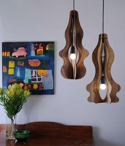 Sustainable Flat-Pack Timber Chandeliers by Loz Abberton