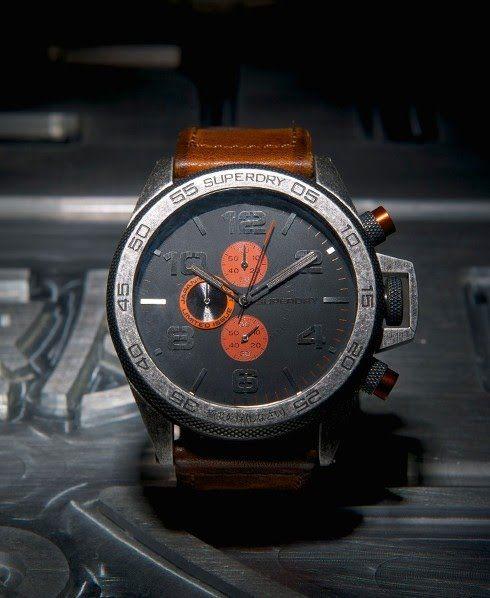 Superdry Super Sport Watch Brown