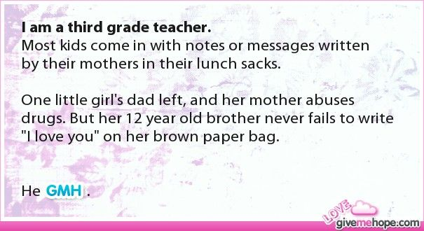 Page 2 - Top Stories - Love Gives Me Hope: I just thought this was so sweet and i'm not a Third Grade teacher