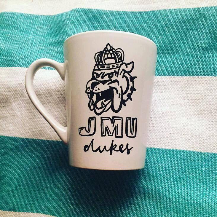 """14oz """"JMU Dukes"""" Handmade Mug"""