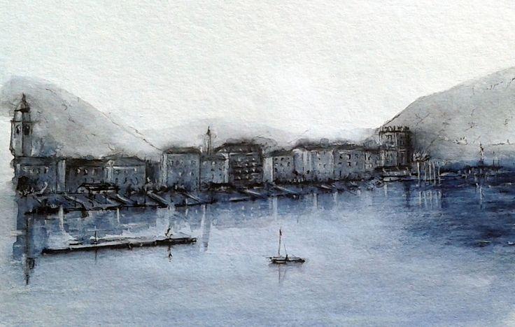 Ascona, acquerello e china    -    SOLD