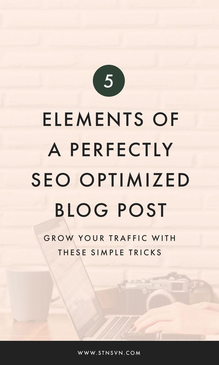 Wondering what the elements of a perfectly optimized blog post are? We're talking all about SEO and optimization in this blog post.