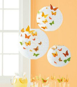Love these embellished paper lanterns from @Martha Stewart Crafts!
