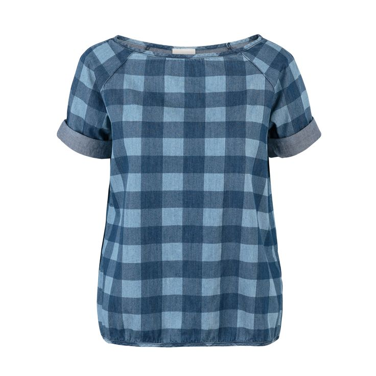 Buy the Contrast Check Denim Blouse at Oliver Bonas. Enjoy free worldwide standard delivery for orders over £50.
