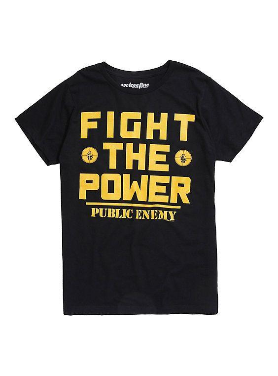 Public Enemy Fight The Power T-Shirt, BLACK