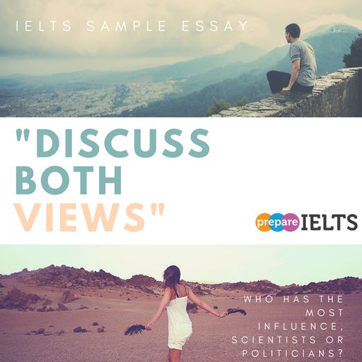 IELTS sample essay discuss both views science or politics