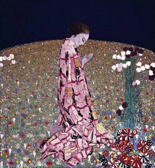 Felice Casorati (Italian, 1883-1963) - The Prayer, 1914