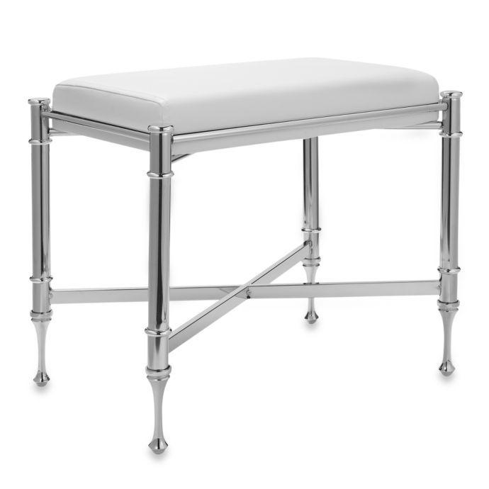 Taymor Chrome Vanity Bench Bed Bath Beyond Vanity Stool