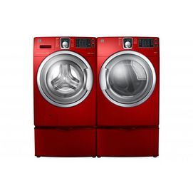 Kenmore Elite 5.0 cu. Ft. Front-Load Washer w/SpeedClean & 7.5 cu. Ft. Steam Electric Dryer - Tango Red - Sears