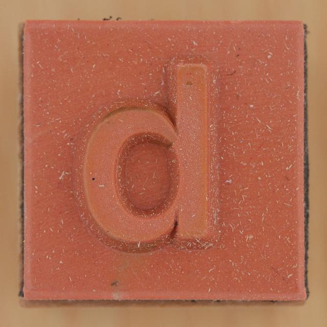Rubber Stamp Letter d by Leo Reynolds, via Flickr