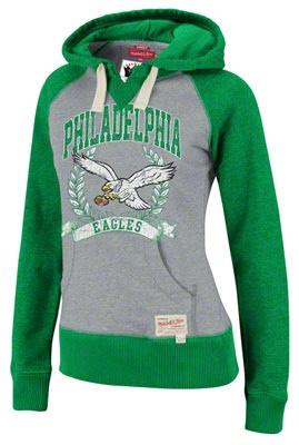Philadelphia Eagles Mitchell & Ness Women's Post Season Hoodie