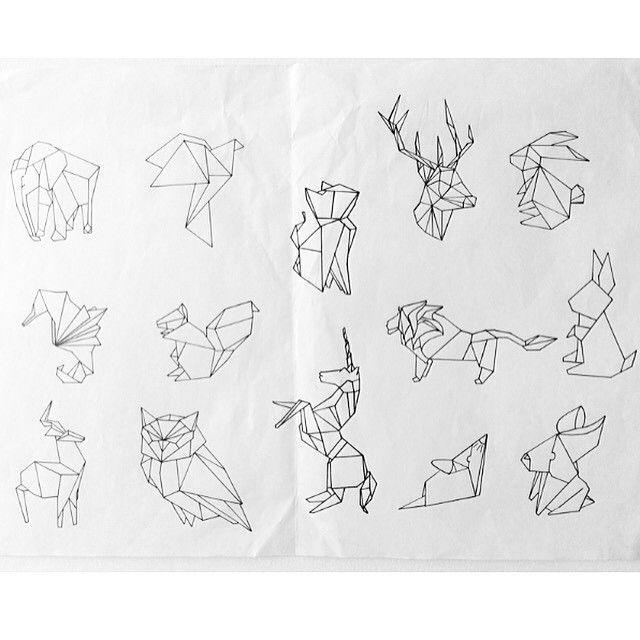 origami lion tattoo - Google Search