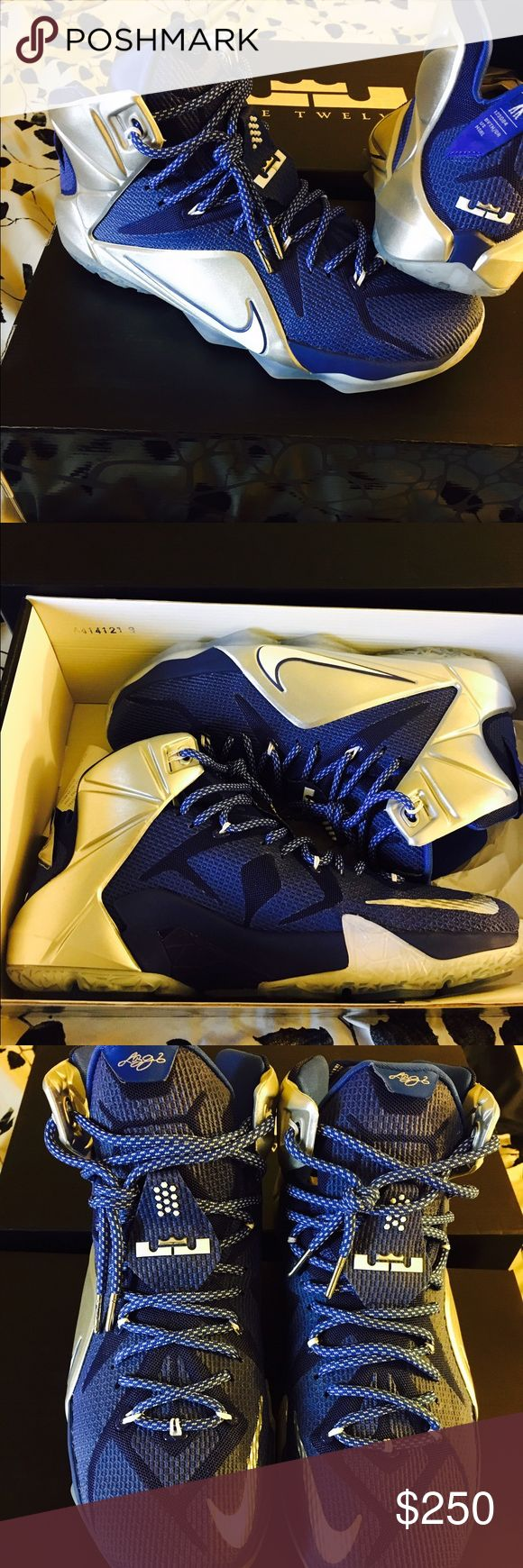 "Lebron James 12 ""what if"" Dallas cowboys Brand new! With box. Husband never wore. Nike Shoes Athletic Shoes"