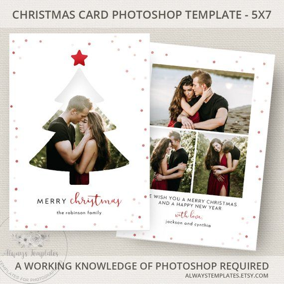 Christmas Tree Card Template Photo Christmas Card Template Photoshop Christmas Card Template Holiday Card Template Psd Template 5x7 Christmas Photo Card Template Christmas Photo Cards Photoshop Christmas Card Template