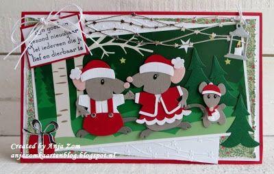 Anja+Zom+kaartenblog:+Familie+Kerstmuis