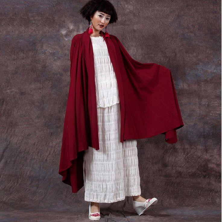 Women irregular cardigan cotton coat
